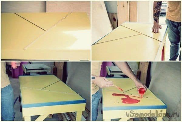 Делаем украшение стола эпоксидным покрытием