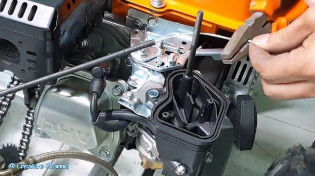 Бензиновый мотоблок с прицепом (6 л.с.)