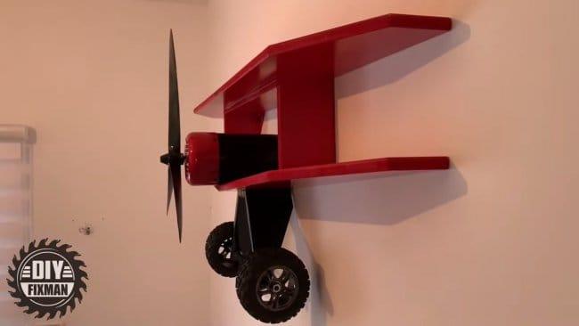 Полка-самолет в детскую