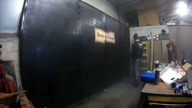 Облицовка стен паллетными досками