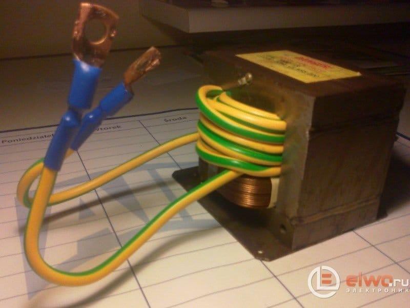 Пусковой выпрямитель для авто из трансформатора микроволновки