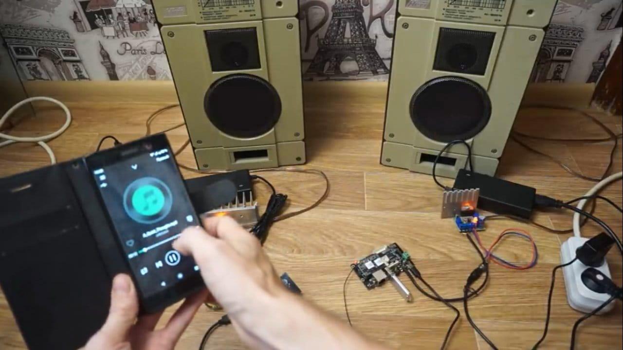 Беспроводная стереосистема на базе стримеров Up2Stream