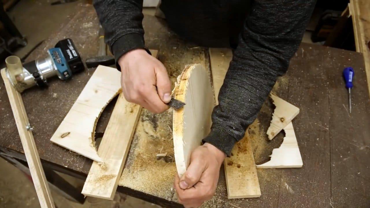 Компактный деревянный складной стул своими руками