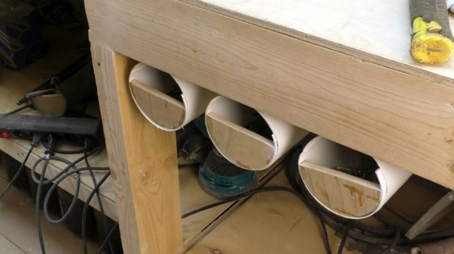 Простые ящики для мастерской (из ПВХ труб) своими руками