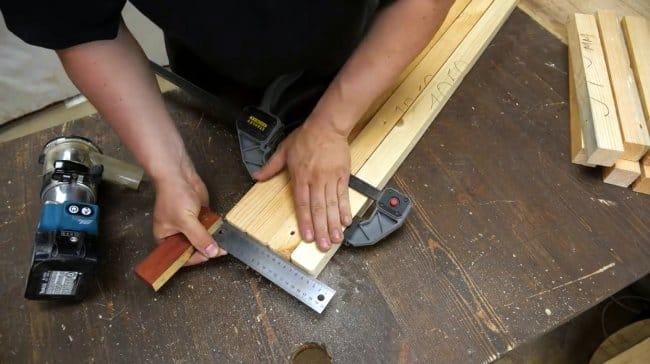 Складное кресло из соснового бруса своими руками