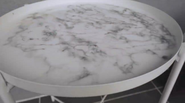 Создание «мраморного» покрытия на столешнице своими руками