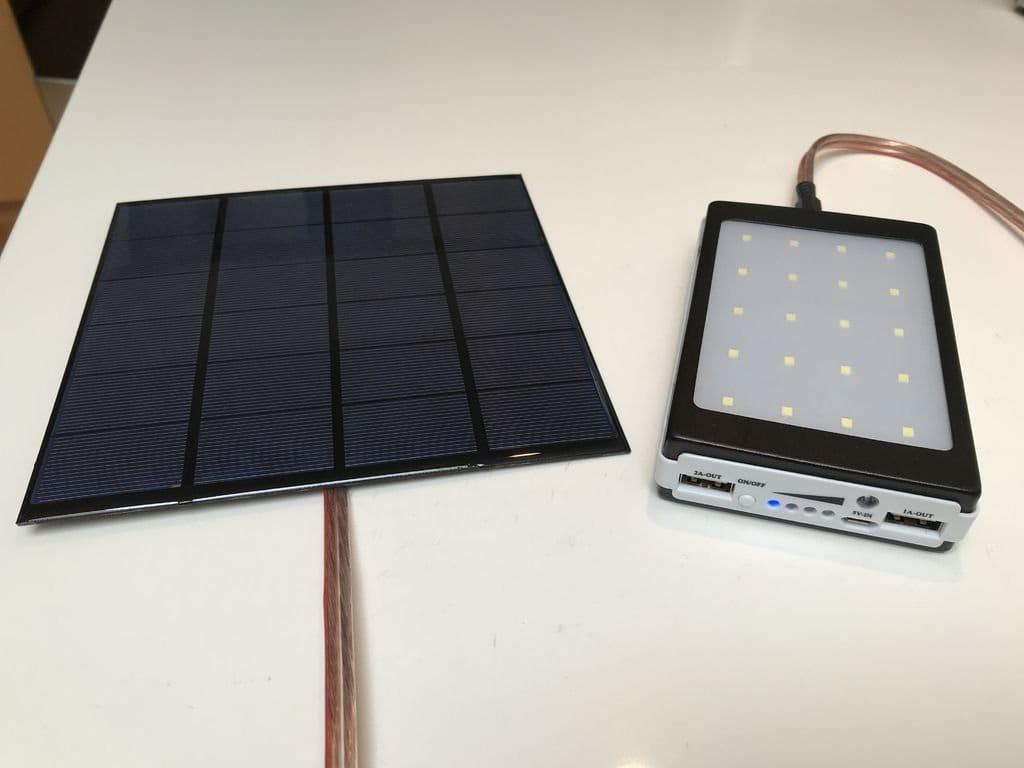 Power Bank с зарядкой от выносной солнечной панели