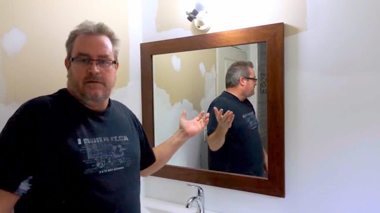Зеркало для ванной комнаты своими руками