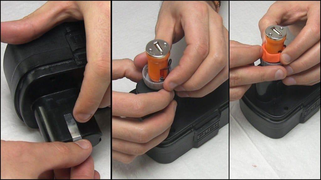 Повербанк из батареи от шуруповёрта