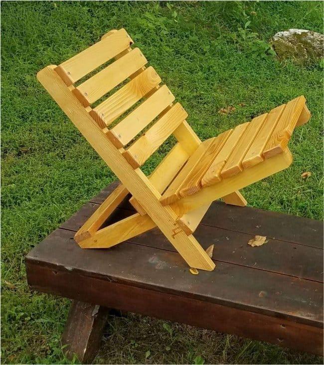 Складной стул из бруска своими руками