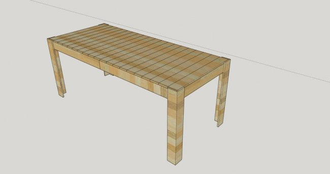 Обеденный стол из поддонов с подсветкой