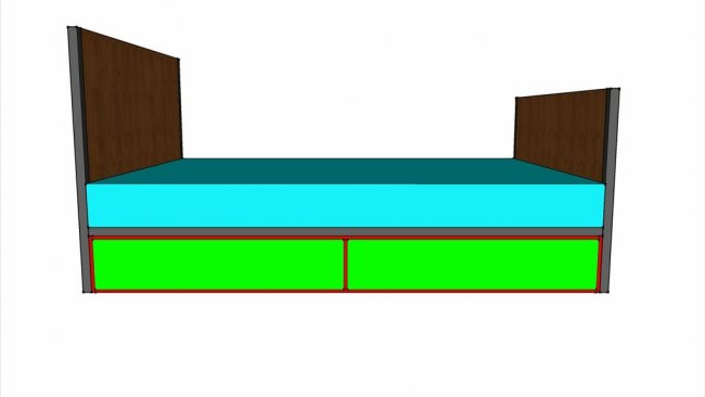 Бельевой подкроватный ящик