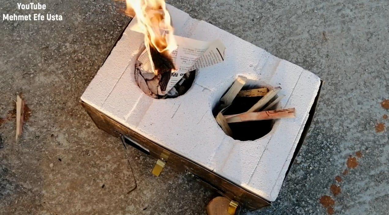 Мини-печь из газобетона на две конфорки