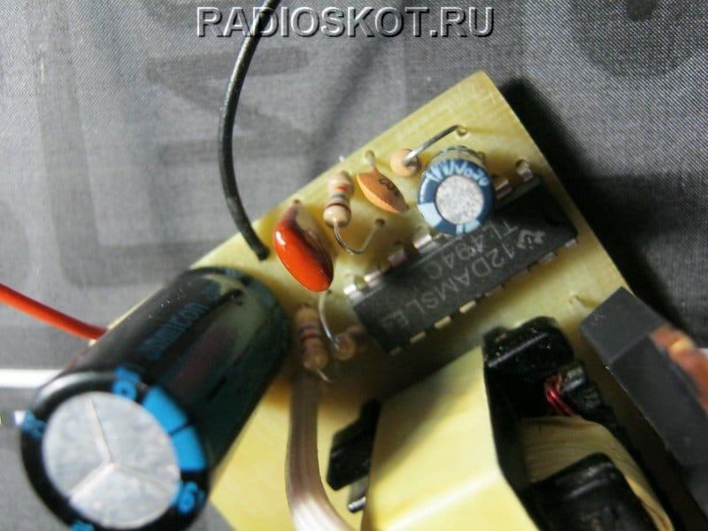 Миниатюрный преобразователь 12 в 220 вольт