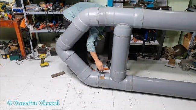 Как собрать лодку из ПВХ-труб