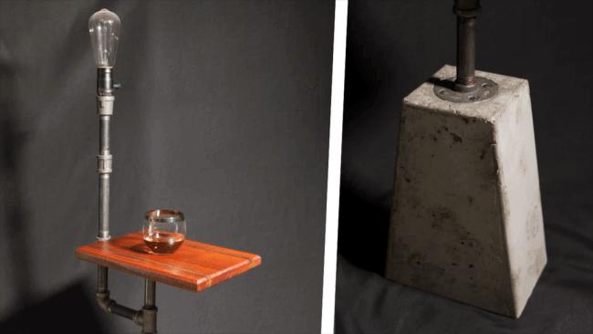 Малогабаритный коктейль столик с освещением