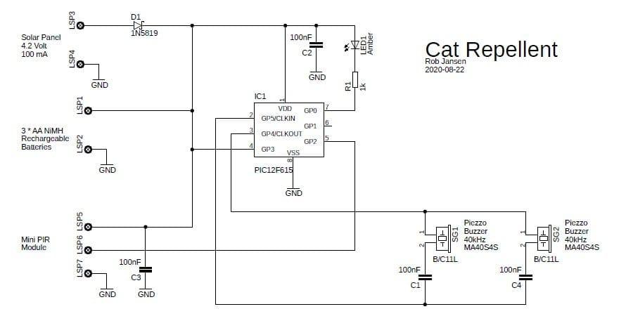 Устройство для отпугивания котов и кошек
