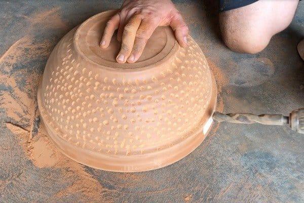 Гриль из глиняных цветочных горшков