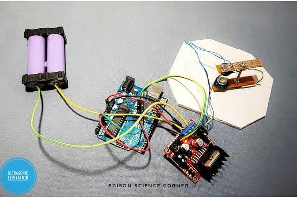 Аппарат ультразвуковой левитации под управлением Aрдуино