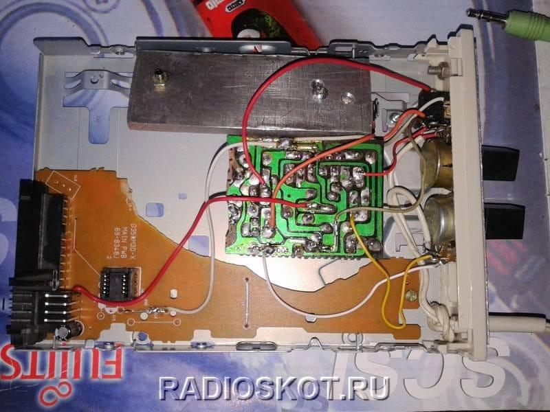 Усилитель, встроенный в корпус компьютера