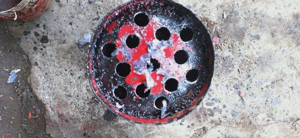 Дровяная печь из газового баллона