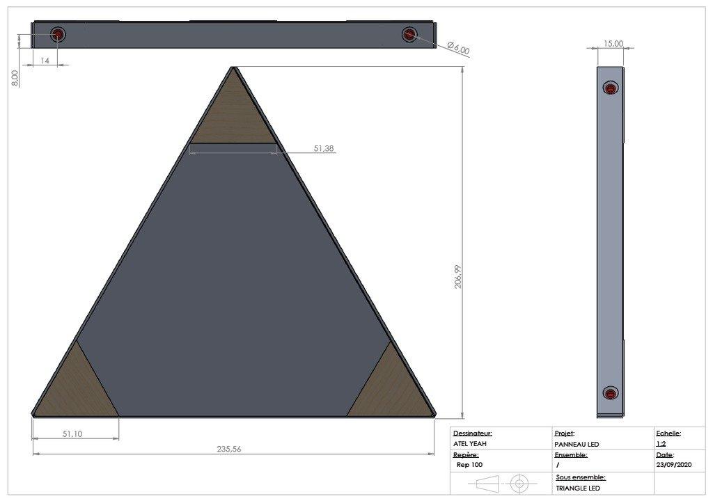 Треугольная светодиодная панель