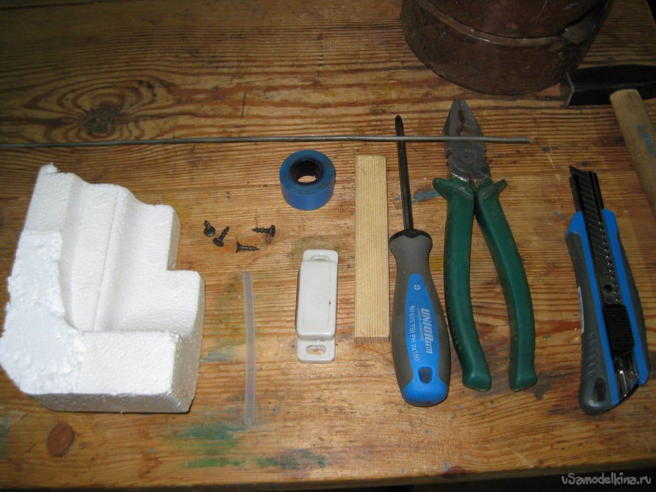 Простой магнитный датчик с поплавком для садовой бочки