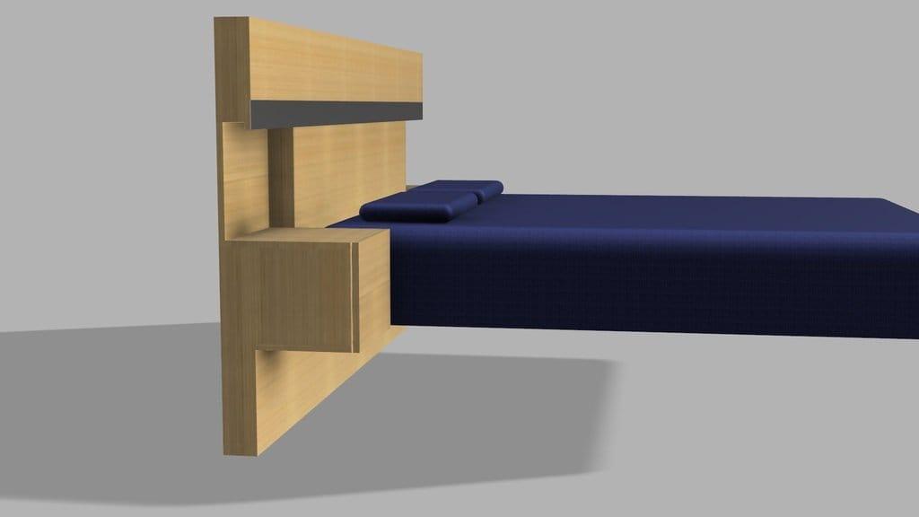 Изголовье с тумбами и подсветкой для двуспальной кровати