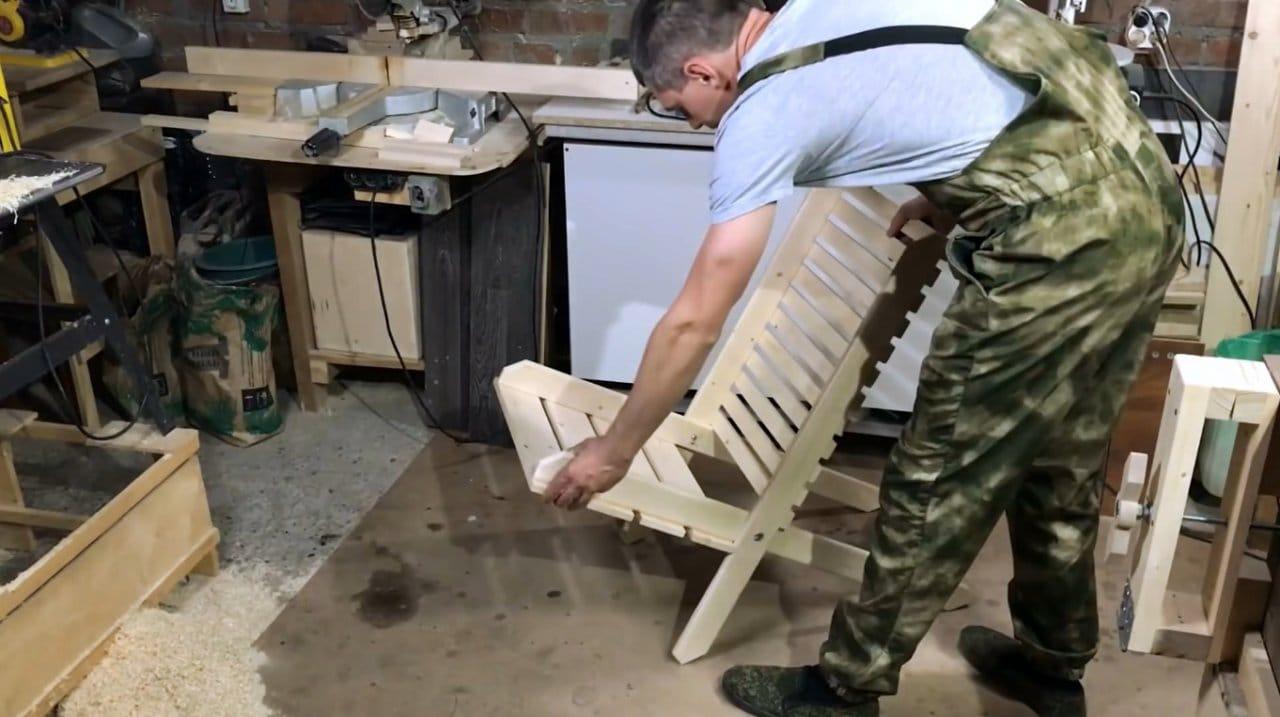 Простое раскладное кресло своими руками