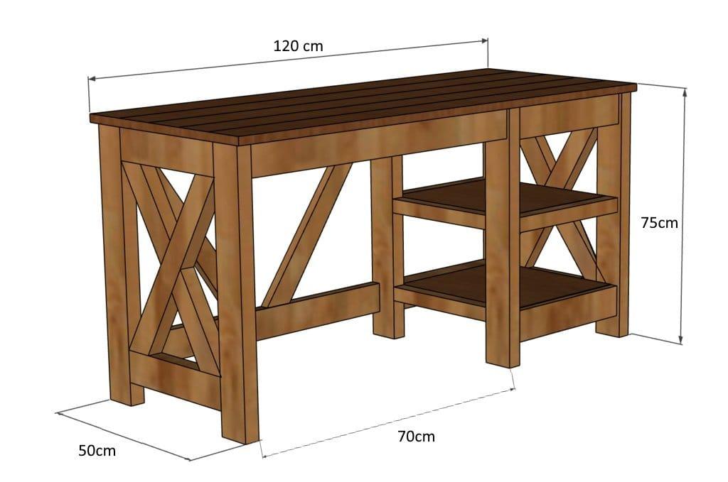 Компьютерный стол в стиле лофт