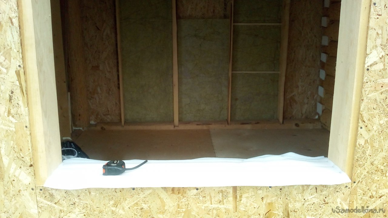 «Наряжаем» сруб для бани. Часть 2. Комната отдыха (предбанник)