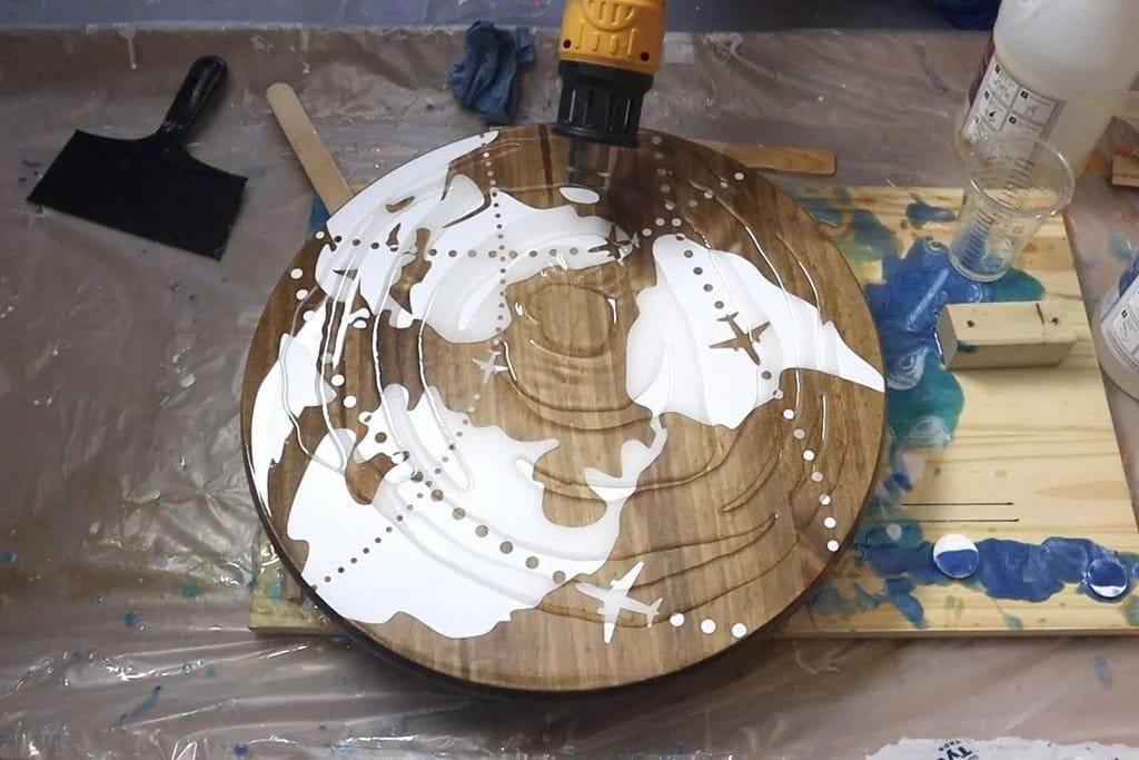 Журнальный столик «Карта мира»