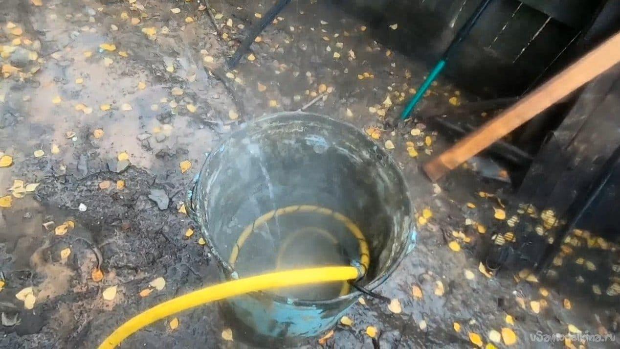 Приспособа для мытья песка (эксперимент)
