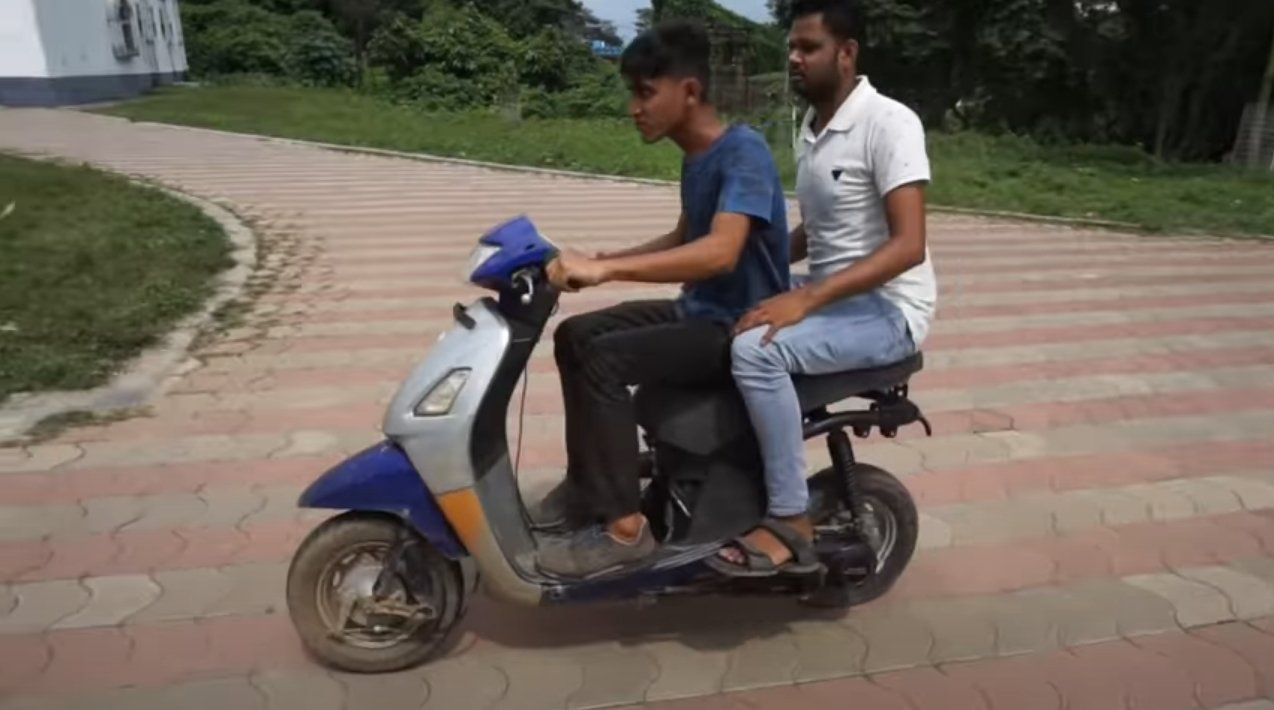 Как установить электромотор на скутер