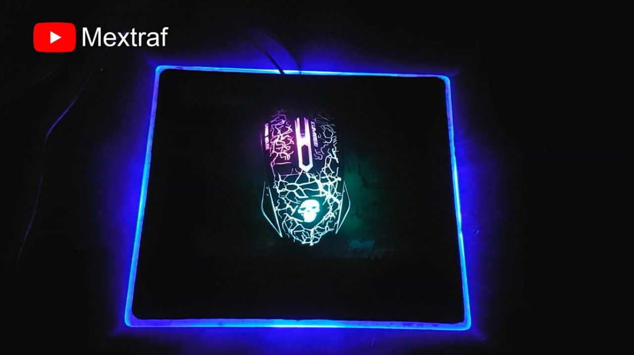 Как сделать простой коврик для мышки с RGB подсветкой