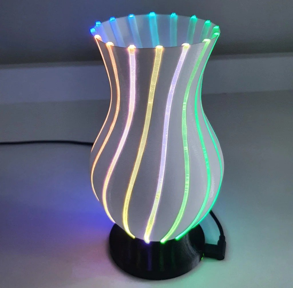 Ваза для цветов со светодиодной подсветкой