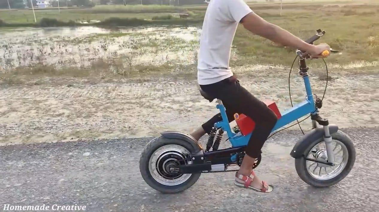 Делаем небольшой электрический мотоцикл с запасным педальным приводом