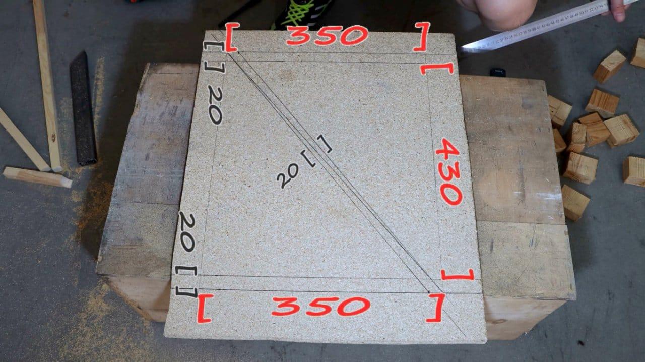 Как сделать табурет с Z-образной основой + чертеж