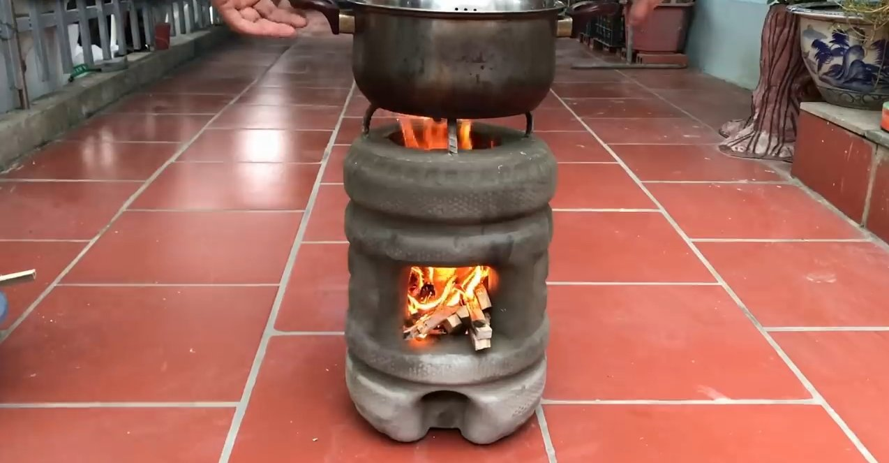 Оригинальная бетонная мини-печь
