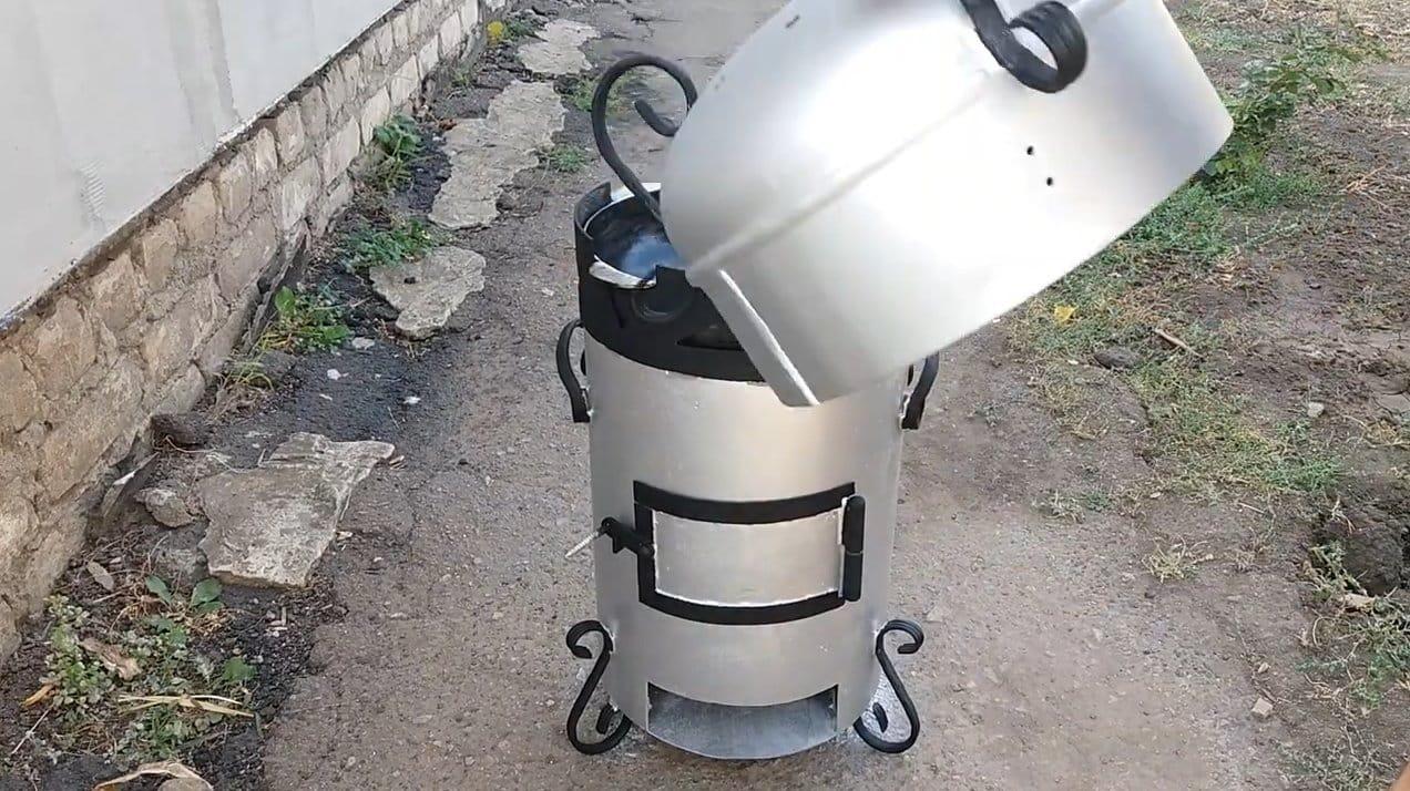 Уличная печь 3 в 1 из газового баллона