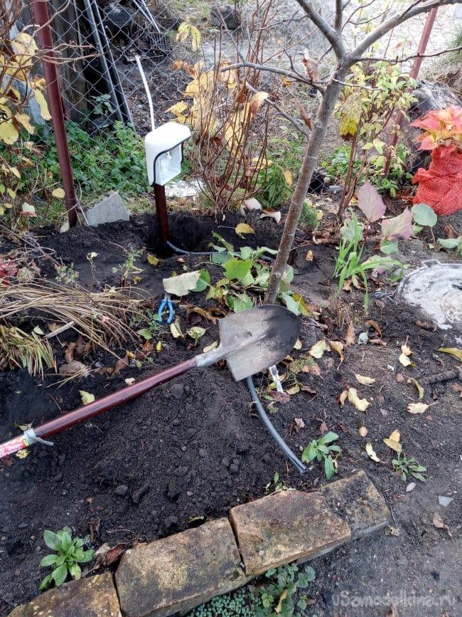 Садовый электрощит с розеткой своими руками