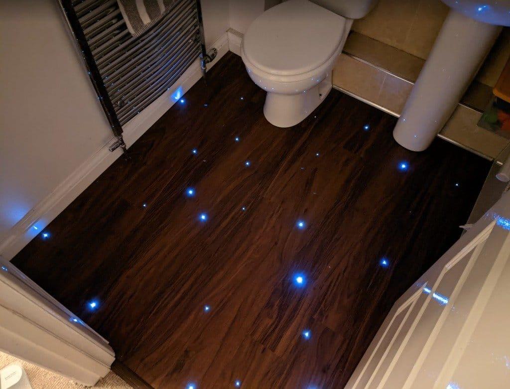 Как сделать «Звездное небо» на полу (плитка, винил) + пара бонусов