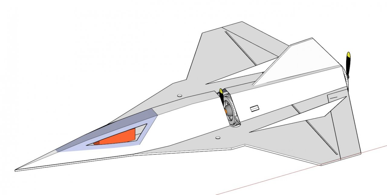 Авиамодель на радиоуправлении EZ – Jets самолёта  Blackbird SR-72