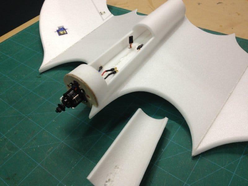 Экзотическая авиамодель на радиоуправлении «Ding Bat» - Летучая мышь