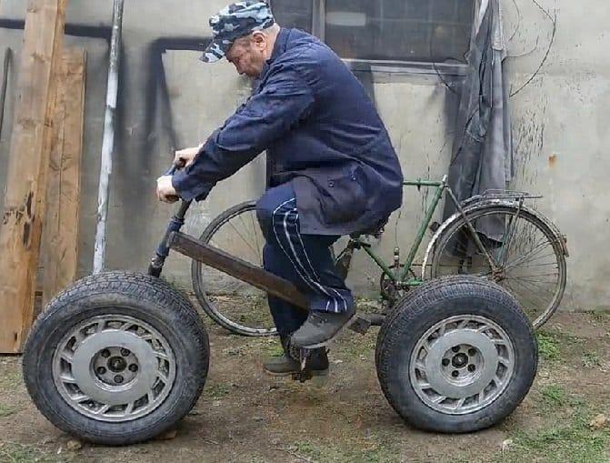 Велосипед на колёсах от Ниссана