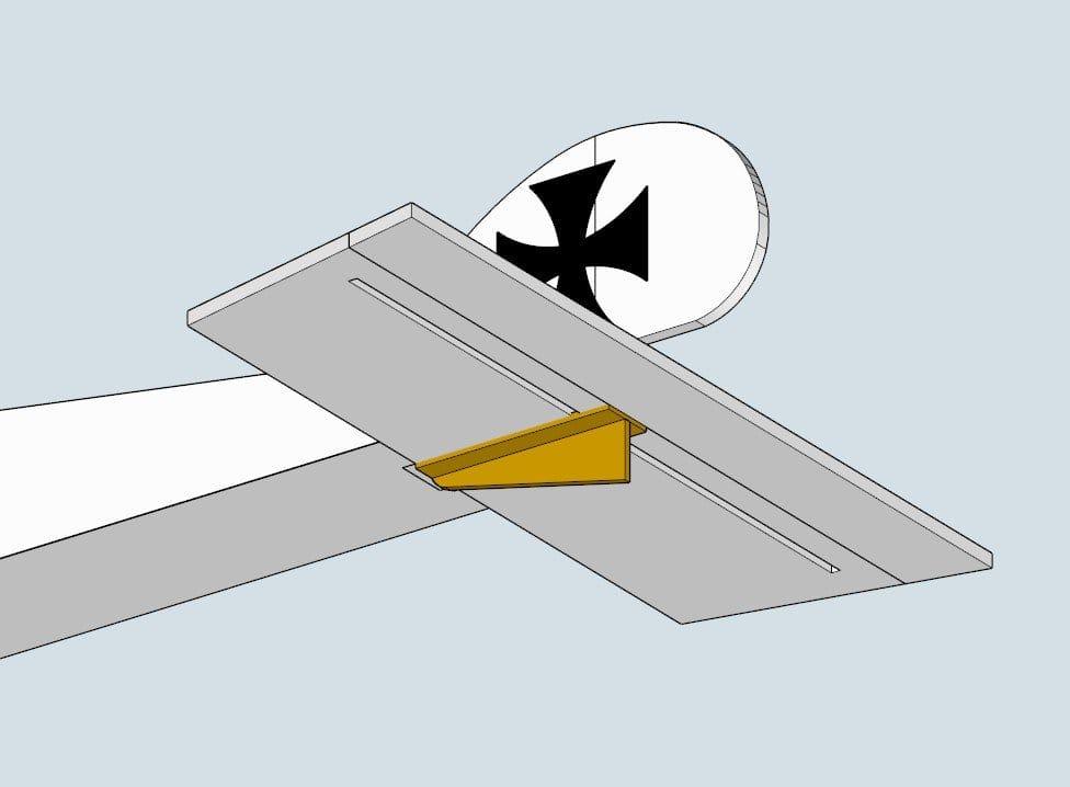 Авиамодель крошечный Фоккер на радиоуправлении