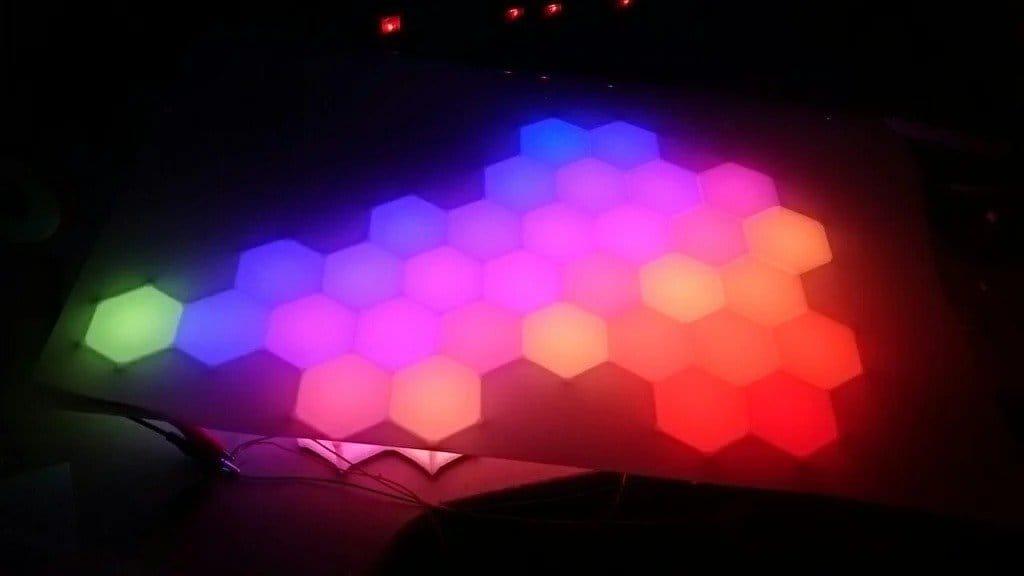 Светодиодная настенная панель из гравийной решетки