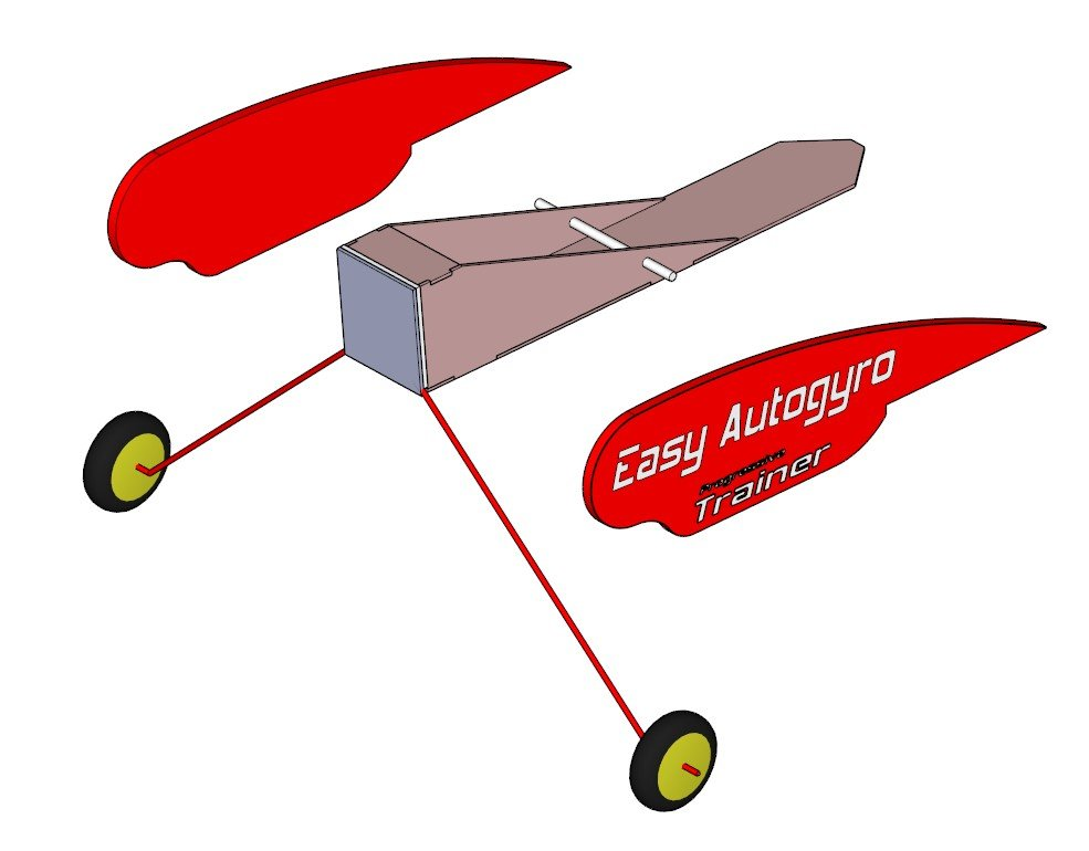 Постройка легкого, прогрессивного тренера Autogyro и его эволюция