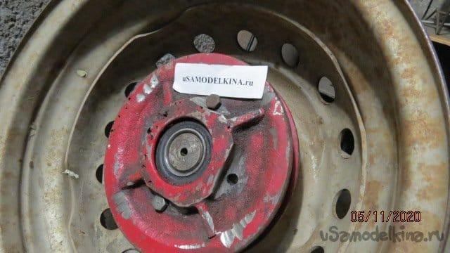 Установка автомобильных колес R13 на мотоблок
