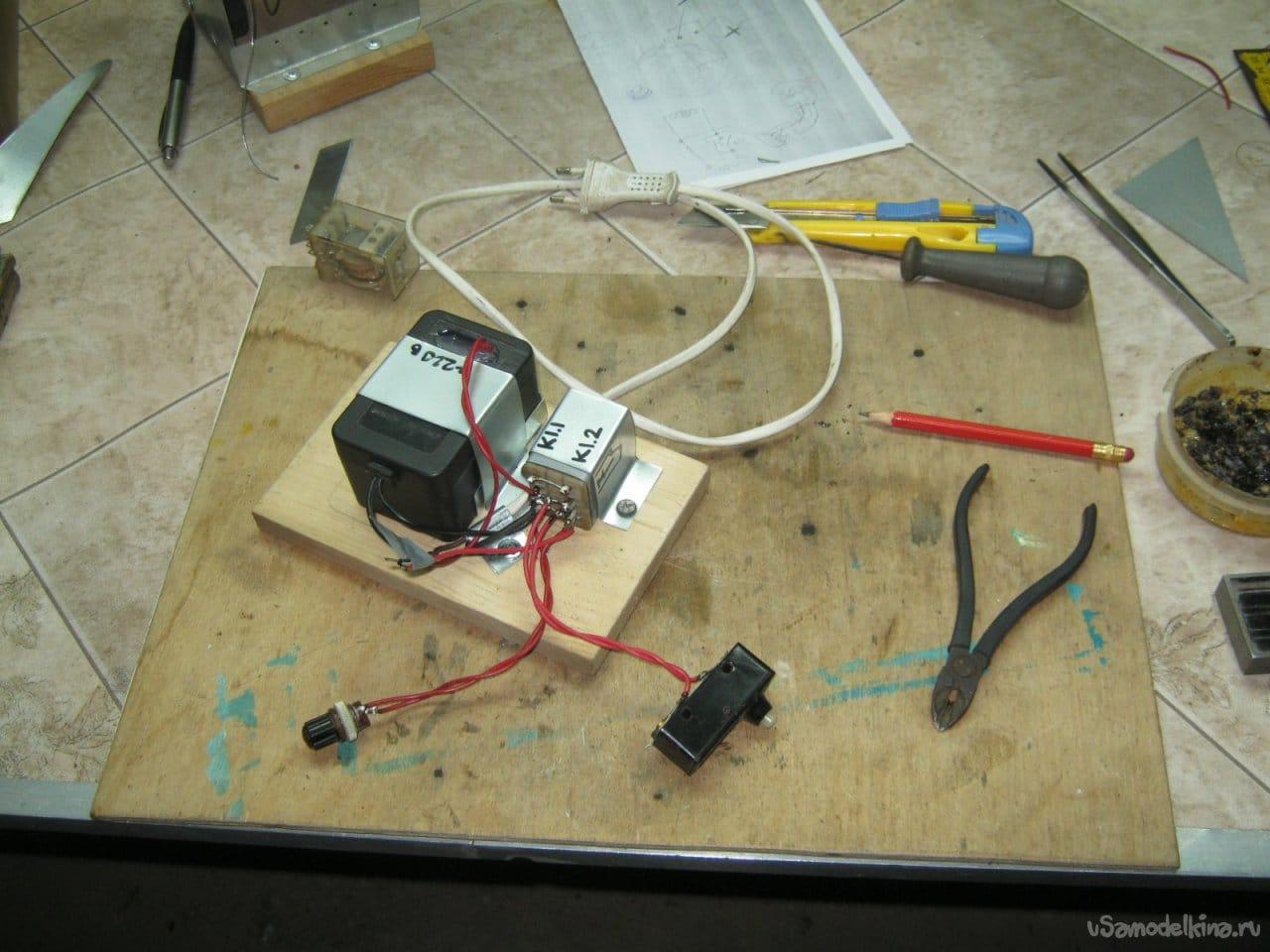 Простой полуавтомат - наливатель воды в печной бак